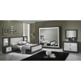 Dormitor - KRISTEL , culoare alb sau negru